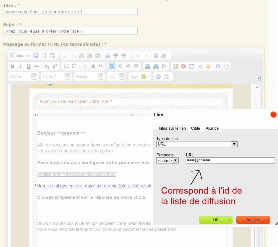 Segmentation emailing niveau 2 et 4